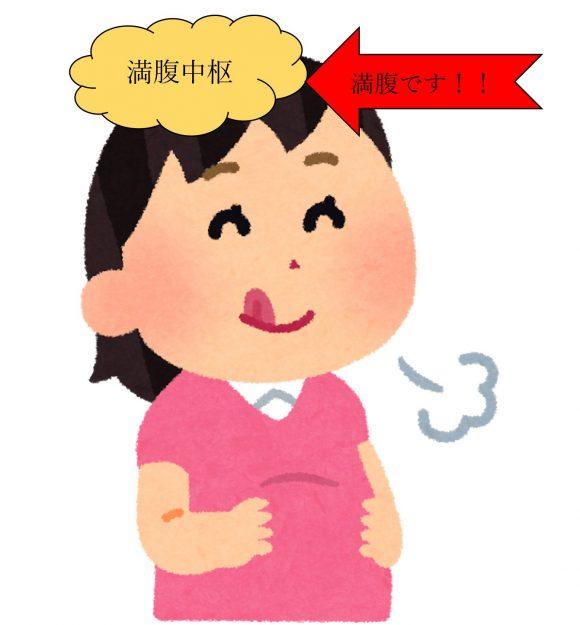 glp 1 ダイエット 体験者 口コミ 満腹の女性のイラスト
