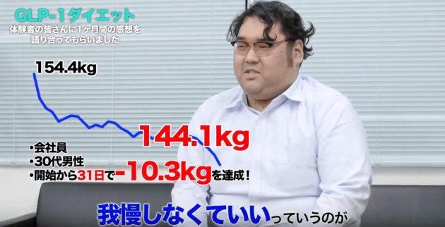 GLP-1ダイエットでたった1ヵ月で10.3kgのダイエットに成功した体験談を話すBさん