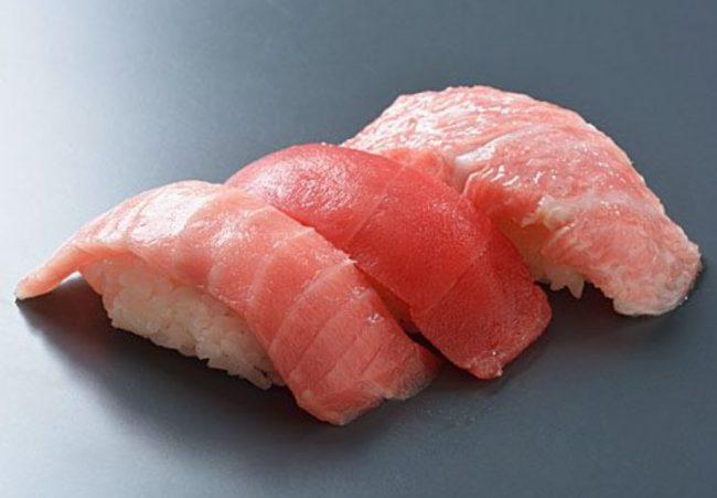 3貫食べたら1日分のEPAがとれるマグロの大トロ寿司